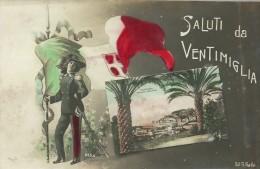 VENTIMIGLIA-SALUTI DA VENTIMIGLIA- VIAGGIATA- PRIMI DEL 900 - Italie