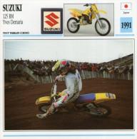 FICHE TECHNIQUE MOTO - DÉTAILS CARACTERISTIQUE AU DOS SUZUKI 125 RM 1991 / SPORT CROSS - Motor Bikes