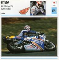 FICHE TECHNIQUE MOTO - DÉTAILS CARACTERISTIQUE AU DOS HONDA 500 NSR GRAND PRIX M. DOOHAN / COURSE - Motor Bikes
