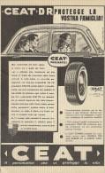# CEAT Tyres 1950s Car Tires Italy Advert Pub Pubblicità Reklame Pneumatici Pneus Reifen Neumaticos India Mumbai - Altri