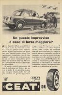 # CEAT Tyres 1950s Fiat 1100 Car Tires Italy Advert Pubblicità Reklame Pneumatici Pneus Reifen Neumaticos India Mumbai - Altri