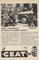 # CEAT Tyres 1950s Fiat 1100 Car Tires Italy Advert Pubblicità Reklame Pneumatici Pneus Reifen Neumaticos India Mumbai - Transporto