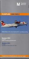 # MUNCHEN AIRPORT TIMETABLE SUMMER 2013 Leaflet Aviation Flight Air  Horaire Flugplan Orario Indicateur Calendario - Timetables