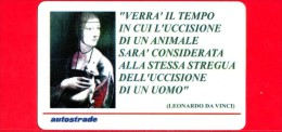 VIACARD -  Immagini Speciali - Leonardo Da Vinci -  Tessera N. 1127 - 100.000 - Pub - 03.2001 - Otros