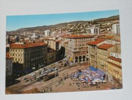 TRIESTE - Piazza Goldoni - Animata - Filobus - Tram - Trieste
