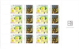 Bloc De 8 Timbres + Coupons Dahlias  Neuf YT 500 / Sheet Flower 2008 Mint Mi 575 Dahlien - Unused Stamps