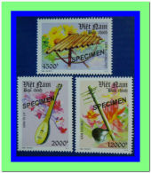 Vietnam Viet Nam MNH SPECIMEN Perf Stamps 2013 : National Musical Instruments / Music (Ms1037) - Vietnam