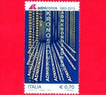 NUOVO - ITALIA - 2013 - 50 Anni Della Nascita Di Adnkronos - 0,70 € • Logo - 6. 1946-.. Repubblica