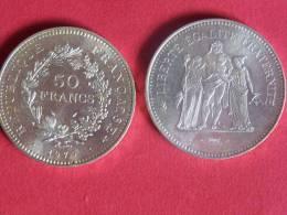 50 Francs Argent Type Hercule 1979-etat Sup - M. 50 Franchi