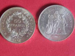 50 Francs Argent Type Hercule 1979-etat Sup - Francia