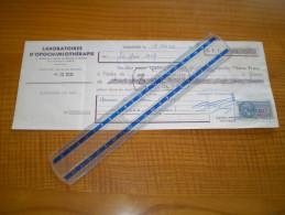 Médecine : Laloratoire D'opochimiothérapie à Toulouse;  Timbre Fiscal 20 Francs & 3 Francs . Santé - Sonstige