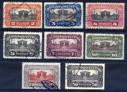 AUSTRIA 1919-21 Parliament Definitive Set Perforated 11½ Used.   Michel 284B-292B - 1918-1945 1st Republic