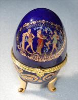 Oeuf En Porcelaine, De Collection, Boite à Bijoux Style Fabergé - Eier