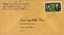 JAMAÏQUE. N°280 De 1968 Sur Enveloppe Ayant Circulé. 1er Mai. - Jamaica (1962-...)