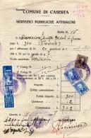 1947 FATTURA CASERTA + MARCHE - Italia