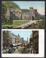 1904 X 2 Antrim Cards - High Street Belfast & Garron Tower See Scans For Detail Etc - Antrim / Belfast