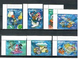 Malediven -  Weltraumfahrt 1988 Disneyfiguren (**/mnh) - Maldive (1965-...)