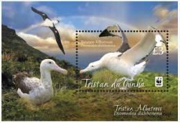Tristan Da Cunha 2013 - Faune En Danger, Oiseaux,  Albatros, WWF - BF Neufs - MNH - Tristan Da Cunha