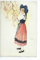 SUZANNE  MEUNIER  -   Costume D' Alsacienne - Meunier, S.