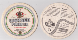 Werner Privatbrauerei Poppenhausen , Pilsener - Tour 24 , Weipoltshausen - Beer Mats