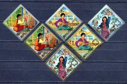 BHUTAN 1967 * Mi # 161 A  - 166 A * GIRL SCOUT * MNH - Bhutan