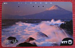 Telefonkarte Asien Japan NTT Vulkan Berge Landschaft Telephone Card 1989 - Vulkane