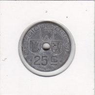 25 Centimes Zinc 1943 FR-FL - 1934-1945: Leopold III