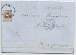 - Lettre - RUSSIE (Empire) - TIFLIS - Cachet à Date Sur TP Russe  Bicolore à 8 Kopecks Bicolore - 1877 - 1857-1916 Imperium
