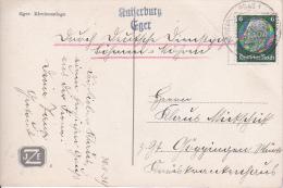 """AK Eger - Stempel """"Deutsche Dienstpost  Böhmen-Mähren - Prag 1"""" - 1939 (3254) - Besetzungen 1938-45"""