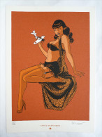 Ex Libris - BERTHET - PIN UP T4 NS 244/300  DURANGO Sérigraphie - Illustrators A - C