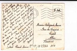 """1957 - RARE CARTE FM ILLUSTREE (VOIR DOS) Du SP 87.942 """"UN VILLAGE ALGERIEN OU LA PAIX EST REVENUE"""" - Marcophilie (Lettres)"""