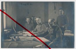Original Foto - 1918 - Bauvin (bei La Bassée, Bei Lille) - Soldaten Im Büro - Erwähnt: Ernst Kuthe - Lille