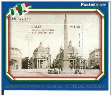Città Del Vaticano - 2011 - Nuovo/new - Emissione Congiunta - Unità D'Italia - Vatican