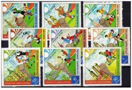 Guinea Equatoriale - 1974 - Usato/used - Mondiali Calcio - Mi N. 337/45 - 1974 – West Germany