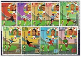 Guinea Equatoriale - 1973 - Usato/used - Mondiali Calcio - Mi N. 307/15 - 1974 – West Germany