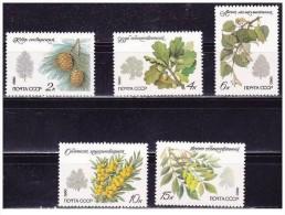 URSS - 1980 - Usato/used - Flora - Mi N. 5002/06 - Gebruikt