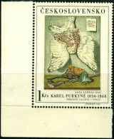 CECOSLOVACCHIA, CZECHOSLOVAKIA, ARTE, KAREL PURKYNE, 1966, FRANCOBOLLO NUOVO (MNH**), Scott 1437 - Tchécoslovaquie