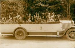 PRIX FIXE !!! BELLE CARTE PHOTO AUTOCAR   - VOITURE - EXCURSION - LOURDES - DEPART POUR GAVARNIE - Bus & Autocars