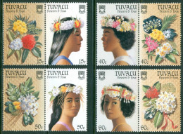 1987 Tuvalu Fiori Flowers Fleurs Set MNH**-Fiog62 - Tuvalu