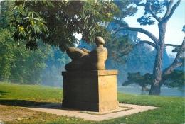 Henry Moore Reclining Figure, Dartington Hall Gardens, Devon, England Postcard - England