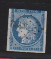 25 Centimes Bleu //  N 4  // Cachet 3382  //  Toulon - 1849-1850 Ceres