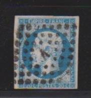 20 Centimes Bleu //  N 14   // Cachet Losange   Lettre A - 1853-1860 Napoléon III