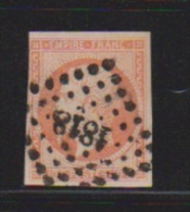 40 Centimes Orange  //  N 16   // Cachet 1818  //   Lyon - 1853-1860 Napoleon III