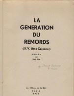 José Vial (ps. Marcel Lachaert), La Génération Du Remords (roman Sur Le Mouvement Flamand) - Histoire