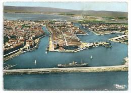 Cpsm: 34 SETE (ar. Montpellier) Le Port Et La Ville (Vue Aérienne) 1962  CIM  N° 246 - Sete (Cette)