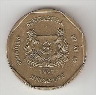 *singapore  1  Dollar  1997  Km 103   Unc - Singapour