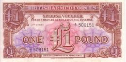 GRANDE BRETAGNE  1 Pound  British Armed Forces Non Daté (1956)   Pick M29  ***** QUALITE  XF  ***** - Militaire Uitgaven
