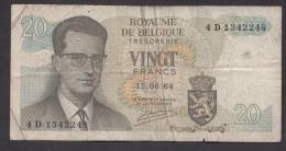 België Belgique Belgium 15 06 1964 20 Francs Atomium Baudouin. 4 D 1342248 - 20 Francs