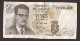 België Belgique Belgium 15 06 1964 20 Francs Atomium Baudouin. 4 D 1057301 - [ 6] Schatzamt