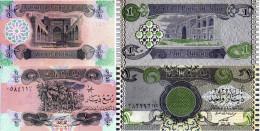 IRAQ 1/4 1 DINARS 2 BANCONOTE FDS UNC - Iraq